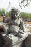Статуя Karupanasamy в munishwarar виске на vediyarendal стоковое фото