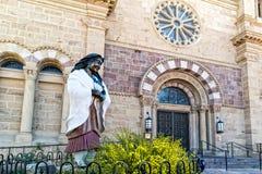Статуя Kateri Tekakwitha, Св.а Франциск Св. Франциск Assisi стоковые фотографии rf