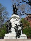 статуя lafayette стоковое изображение rf