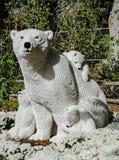Статуя Lego полярного медведя Стоковая Фотография RF