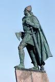 Статуя Leif Eriksson в Reykjavik, Исландии Стоковая Фотография