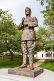 Статуя Lejeune на военно-морском училище Соединенных Штатов стоковая фотография rf