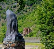 Статуя lorelei в Германии стоковая фотография rf