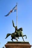 статуя manuel belgrano стоковая фотография