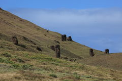 Статуя Moai на острове пасхи Стоковое Изображение RF