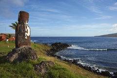 Статуя Moai, остров пасхи, Чили Стоковые Изображения RF