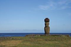 Статуя Moai, остров пасхи, Чили Стоковое Изображение