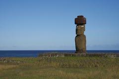 Статуя Moai, остров пасхи, Чили Стоковое Фото