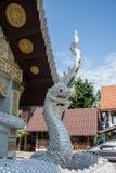 Статуя Naga в виске на районе Pua, Nan, Таиланде Стоковое фото RF