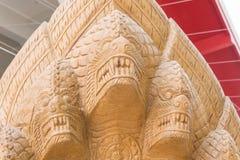 Статуя Naga в виске Стоковые Изображения RF