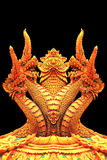 Статуя Naga в тайском виске Стоковые Фотографии RF