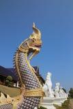 Статуя Naka; Висок вертепа запрета Wat расположенный на Chiangmai Стоковое Фото