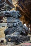 Статуя Nandi Bull на виске Brihadeshwara стоковая фотография