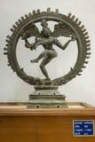 Статуя Nataraja в колесе на дворце Thanjavur стоковые фотографии rf
