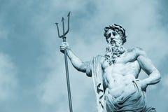 статуя neptun Стоковые Фотографии RF