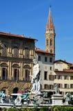 статуя neptun florence Италии Стоковые Фото