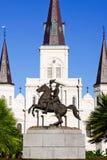 статуя New Orleans памятника Андреш Жачксон Стоковое Фото
