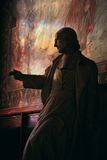 статуя notre dame собора Стоковое Фото