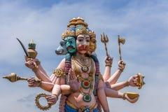 Статуя Pancha Muga Anjaneyar в Vellore. Стоковые Изображения