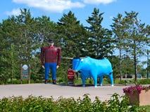 Статуя Paul Bunyan, легендарного Lumberjack - MN Bemidji стоковая фотография