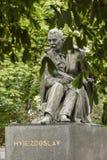 Статуя Pavol Orszagh Hviezdoslav в Братиславе, Словакии Стоковое Фото