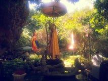 Статуя Phra Mae Thorani на национальном парке Phnom Kulen Стоковое Фото