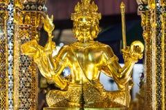 Статуя Phra Phrom на святыне Erawan стоковые изображения rf