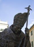 статуя pope ii john Паыль стоковое изображение rf