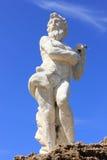 Статуя Poseidon, пляж Plaka, остров Закинфа Стоковая Фотография RF