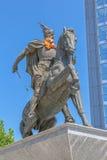 Статуя Pristina Скандербега стоковая фотография