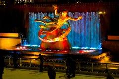 Статуя Prometheus на центре Рокефеллер, NYC Стоковые Изображения