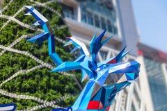 Статуя raindeer полигона стоковая фотография