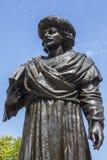 Статуя Rammohun Рой раджи и собор Бристоля стоковые фото