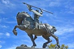Статуя Rodrigo Diaz de Vivar Стоковые Изображения RF