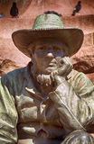 Статуя ` s поселенца, Претория, южно-африканская республика Стоковое фото RF