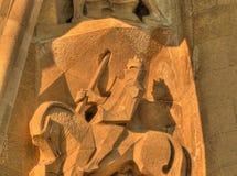 статуя sagrada Испании familia barcelona Стоковые Изображения RF
