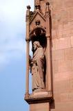 Статуя Sain на Базеле Мунстер Стоковое Изображение