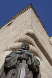 Статуя San Pedro de Alcantara на соборе St Marys Caceres Стоковые Фото