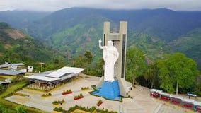 Статуя Santisimo в Piedecuesta Колумбии сток-видео