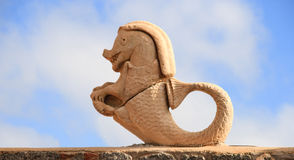 статуя seahorse Стоковое фото RF