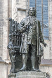 Статуя Sebastian Bach в Лейпциге, Германии Стоковые Изображения RF