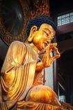 Статуя Shakyamuni Будды на грандиозном Hall большого шалфея стоковые изображения rf