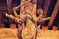 Статуя Shiva виска Непала Стоковые Изображения RF