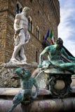 статуя signoria аркады Нептуна della Стоковое Изображение