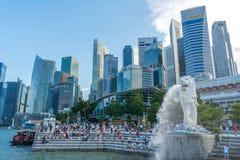 статуя singapore merlion Стоковые Фото
