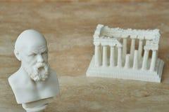 Статуя Socrates, философ древнегреческия Стоковое фото RF