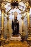 Статуя St Венедикта куда паломники приходят в потребность для запросов стоковое фото rf