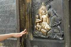 Статуя St Джон Nepomuk Стоковые Изображения