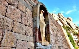 Статуя St. George - деталь украшения monaste Стоковые Фото