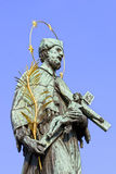статуя st nepomucene john Стоковое Фото